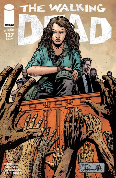 Cover to The Walking Dead #127 (image/skybound, 2014)